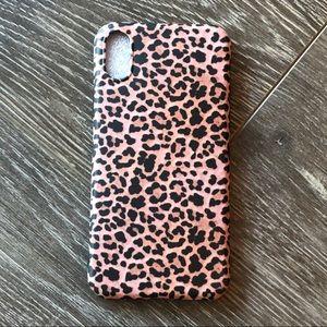 Pink Leopard Print iPhone X/Xs Case